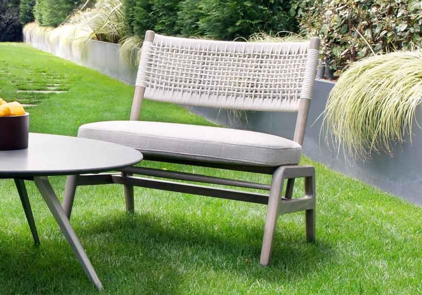 Outdoor Armchairs and Ottoman Flexform
