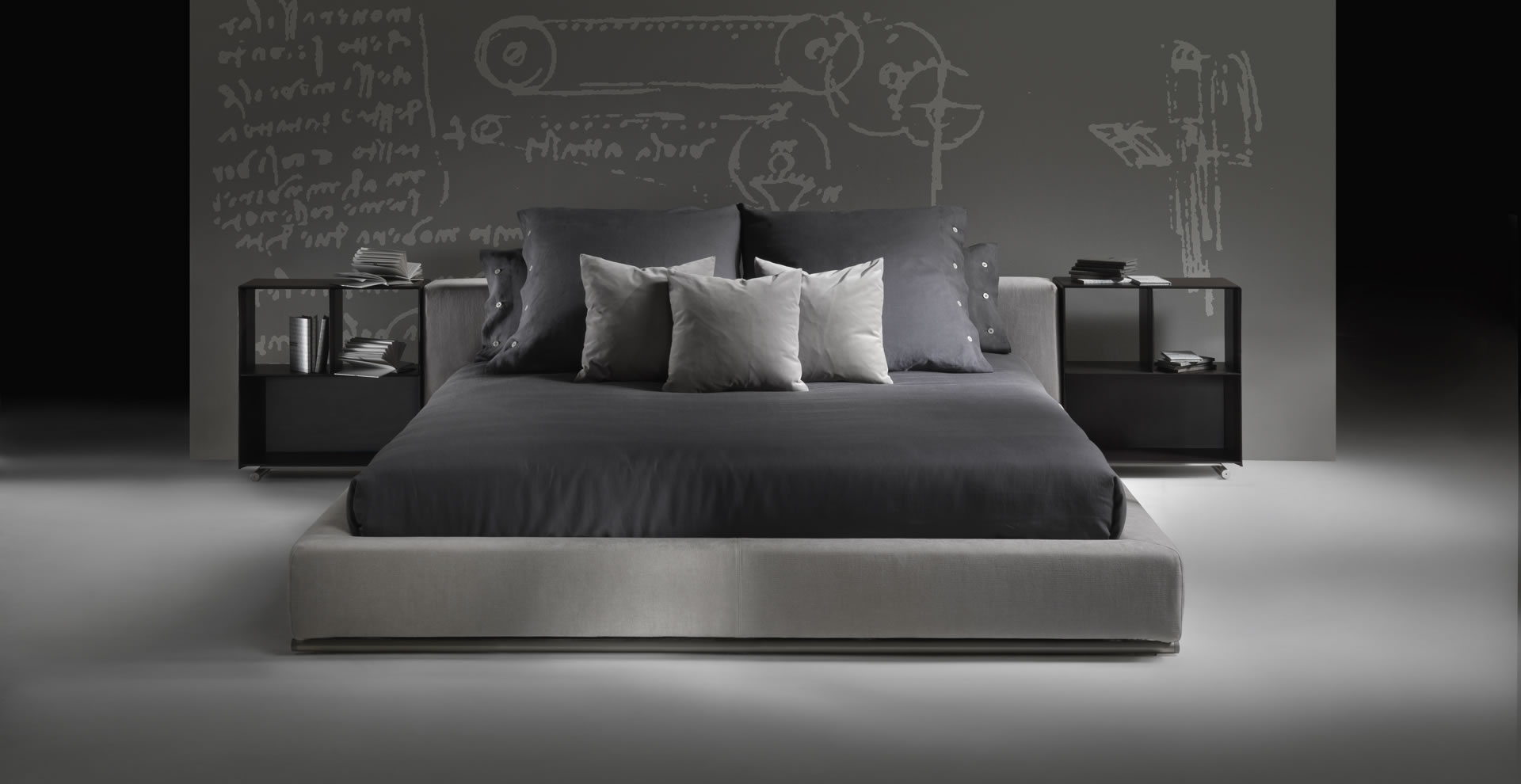 Groundpiece bed flexform letto groundpiece flexform groundpiece bed flexform - Flexform divano groundpiece ...