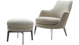 Armchairs, Chaise longue and Ottomans by Flexform